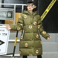 儿童羽绒服女中长款童装2017新款韩版女童装加厚中大童连帽外套