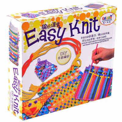 儿童益智编织diy手工制作创意女孩玩具毛线编织布机礼物 买现成不如 自己编织 锻炼动手能力