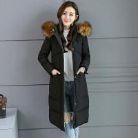反季羽绒女冬季外套大毛领加厚棉衣中长款韩版学生2018新款潮