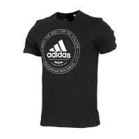 Adidas阿迪达斯 男装 2018新款跑步运动休闲圆领短袖T恤 CV4516