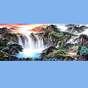 中国青年美术家协会常务理事,中国山水画院专业画家,国家一级美术师高云鹏(富水长流)2
