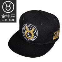 帽子男女款十二星座刺绣黑色简单个性鸭舌帽防晒透气嘻哈棒球帽子
