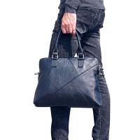 真皮男包韩版手提包牛皮时尚休闲单肩包斜挎电脑包男士商务公文包 黑色