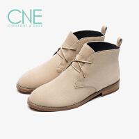 CNE2019秋冬款低跟工装靴沙漠靴马丁靴及踝靴女短靴9T31003