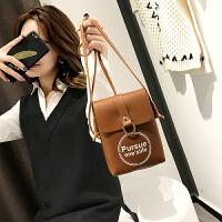 小包包女2018新款韩版 百搭小方包字母斜挎单肩包手机包