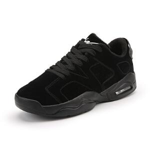秋冬季新款男鞋韩版潮鞋学生运动跑步鞋加绒保暖棉鞋休闲鞋男鞋子