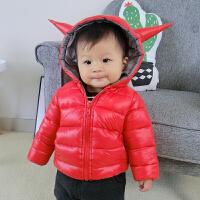 儿童外套宝宝羽绒季1-3岁婴儿棉衣男女童棉袄新款外出服潮