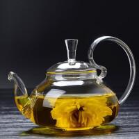 红兔子 500毫升耐高温过滤泡茶杯企鹅玻璃茶壶加热泡花茶壶茶具茶器玻璃茶壶家用全玻璃泡茶壶茶具冲茶器