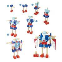【当当自营】木玩世家 100PCS飞机组合 滑翔机螺母玩具管乐拼装拆装组装木制积木 MMBL13004
