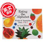 现货 启蒙认知A到Z,英文原版 可以吃的蔬菜水果字母,Eating the Alphabet: Fruits & Ve