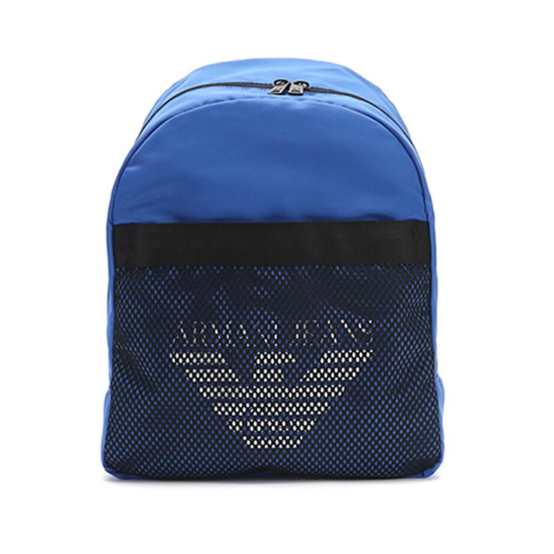 ARMANI JEANS 阿玛尼 男士蓝色聚酯纤维双肩背包轻奢品 9321237P917 00033 蓝色 阿玛尼男士双肩包 时尚轻奢 品质保证