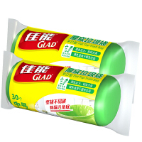 [当当自营]Glad佳能 2件装厚实垃圾袋平口型中号绿色