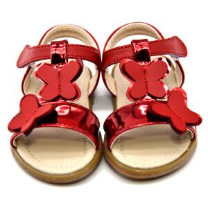 梓 缇儿童凉鞋 2017新款夏季凉鞋0-3岁小孩宝宝学步鞋小童 女童凉鞋