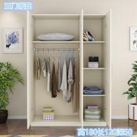 20190403030141623两门衣柜简约现代经济型组装实木板式租房宿舍简易单人双人小柜子