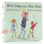 我们要去捉狗熊 英文原版纸板书 We're Going on a Bear Hunt 廖彩杏有声书单 2-3-4-6岁