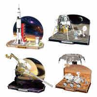 乐立方太空拼图3d立体拼图阿波罗登月探测车儿童创意宇航模型玩具