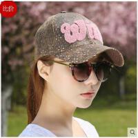 女款休闲帽 潮字母遮阳鸭舌 帽女士运动 防晒太阳棒球帽
