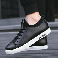 9218黑白春款韩版时尚潮流板鞋学生休闲鞋透气皮鞋新款男鞋