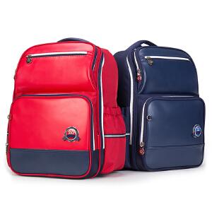 卡拉羊书包 小学生男女卡通双肩包笔袋套装儿童减负大容量防水背包 CX2736