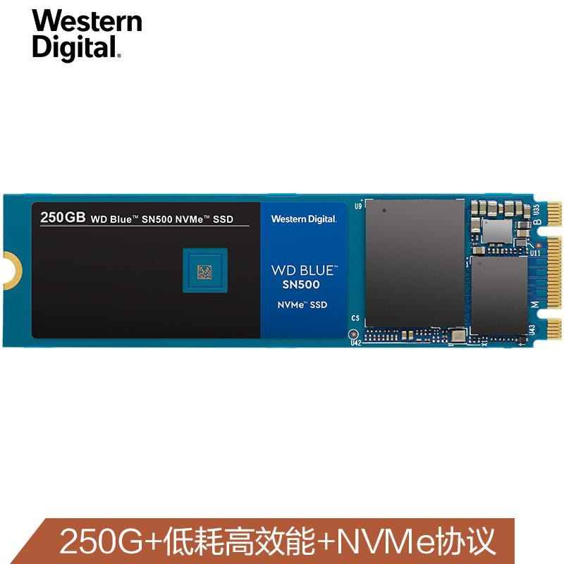西部数据(WD)250G/500G SSD固态硬盘 M.2接口(NVMe协议)Blue SN500 NVMe SSD|五年质保