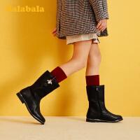 【3件3折价:89.7】巴拉巴拉女童马丁靴儿童靴子短靴2019冬季新款长筒靴大童时尚韩版
