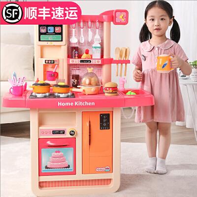 小伶儿童厨房玩具套装做饭女童女孩子过家家宝宝3-6岁7生日礼物
