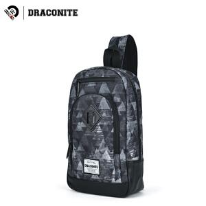 【支持礼品卡支付】DRACONITE潮牌几何帆布胸包男生时尚休闲印花单双肩两用包女13382