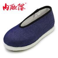 内联升童鞋宝宝鞋手工千层底礼小元布鞋老字号北京布鞋 5302C