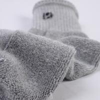 男士个性运动袜子秋冬厚中筒纯色棉袜吸湿排汗毛巾男袜子篮球袜跑步袜