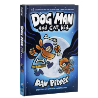 英文原版 Dog Man and Cat Kid 神探狗狗的冒险4 内裤超人Captain Underpants作者D