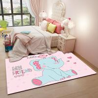 儿童房卡通地毯男女可爱房间卧室床边毯宝宝爬行垫粉色公主房定制