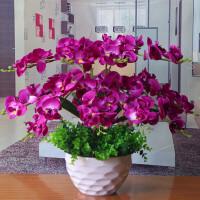 蝴蝶兰花艺盆栽仿真干花套装饰假花绢花客厅餐桌