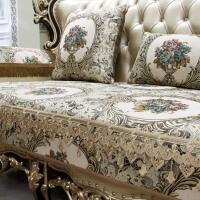 欧式沙发垫套高档奢华布艺客厅真皮四季通用防滑坐垫套罩美式