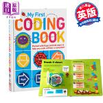 【中商原版】DK儿童编程启蒙书 纸板翻翻书 My First Coding Book 英文原版 儿童编程入门教材 计算