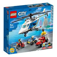 LEGO乐高积木 城市组City系列 60243 *直升机大追击 玩具礼物
