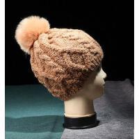 男女帽 保暖帽 毛钱帽 MA-15 情侣毛球麻花针织帽毛线帽