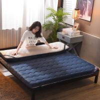 母子床双层床垫冬加厚保暖法兰绒子家用1.5榻榻米床褥1.8m床2米双人海绵垫被