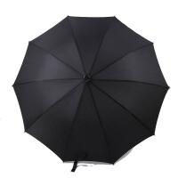 雨伞拐杖 拐杖伞登山伞防滑拐棍伞老人耐磨雨伞登山伞手杖 老年拐�E雨伞L 黑色 拐杖伞