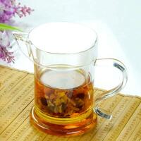 玻璃泡茶器玻璃茶杯水杯鹰嘴泡茶器S把鹰嘴泡茶器功夫茶具茶杯配件玻璃分茶器泡红茶泡茶器双耳杯