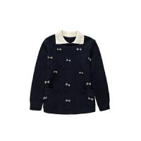 女童毛衣春秋纯棉套头针织毛衣儿童婴儿宝宝圆领韩版毛线衣打底衫