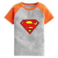超人童装 儿童 男童春夏装2018新款圆领半袖宝宝卡通衣服 S 身高85-100cm