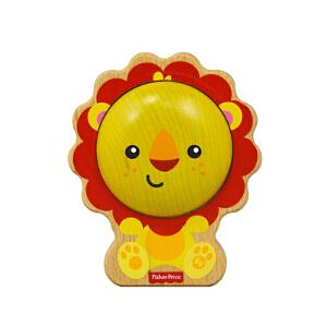 【当当自营】费雪 Fisher Price 费雪 狮子沙锤摇铃 木制音乐玩具益智玩具 FP2002