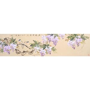 皇甫宜喜《花鸟七》著名画家