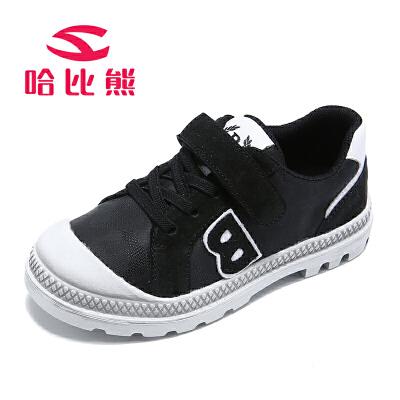 哈比熊男童鞋春秋季新款网鞋透气跑步鞋休闲鞋儿童运动鞋