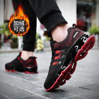 男鞋冬季潮鞋2019新款刀锋战士跑鞋韩版潮牌休闲运动男士春季鞋子 加绒