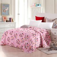 【领券立减50元】优雅100 加厚法兰绒毯子 珊瑚绒毛毯床单毛巾被午睡单人双人盖毯