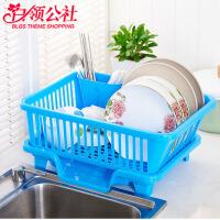 白领公社 碗架 沥水架厨房置物收纳架晾碗盘碟架多功能盘子架碗筷灶台面餐具收纳架