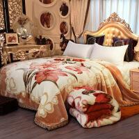 君别拉舍尔毛毯被子双层加厚冬季双人毯子 单人学生宿舍盖毯珊瑚绒毯