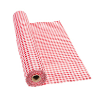 大贸商 园风红格 防水防油耐热免洗 高档可裁剪PVC 台布 桌布 H2054