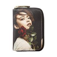 新款卡包女式韩国可爱钱包一体包女个性大容量迷你小巧简约卡片包男 黑色 收藏加购优先发货